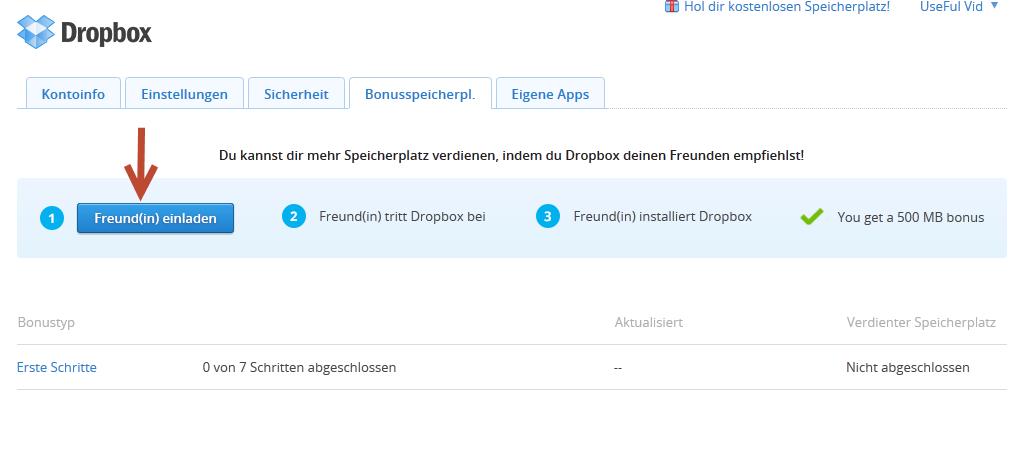 dropbox speicher kostenlos um 16gb erweitern - usefulvid, Einladungen